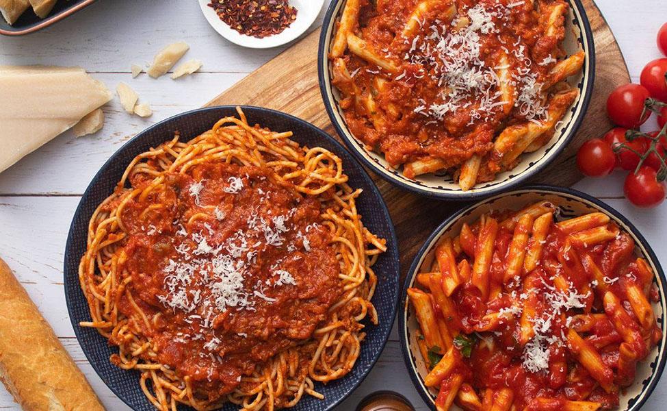 Italian pasta and sos