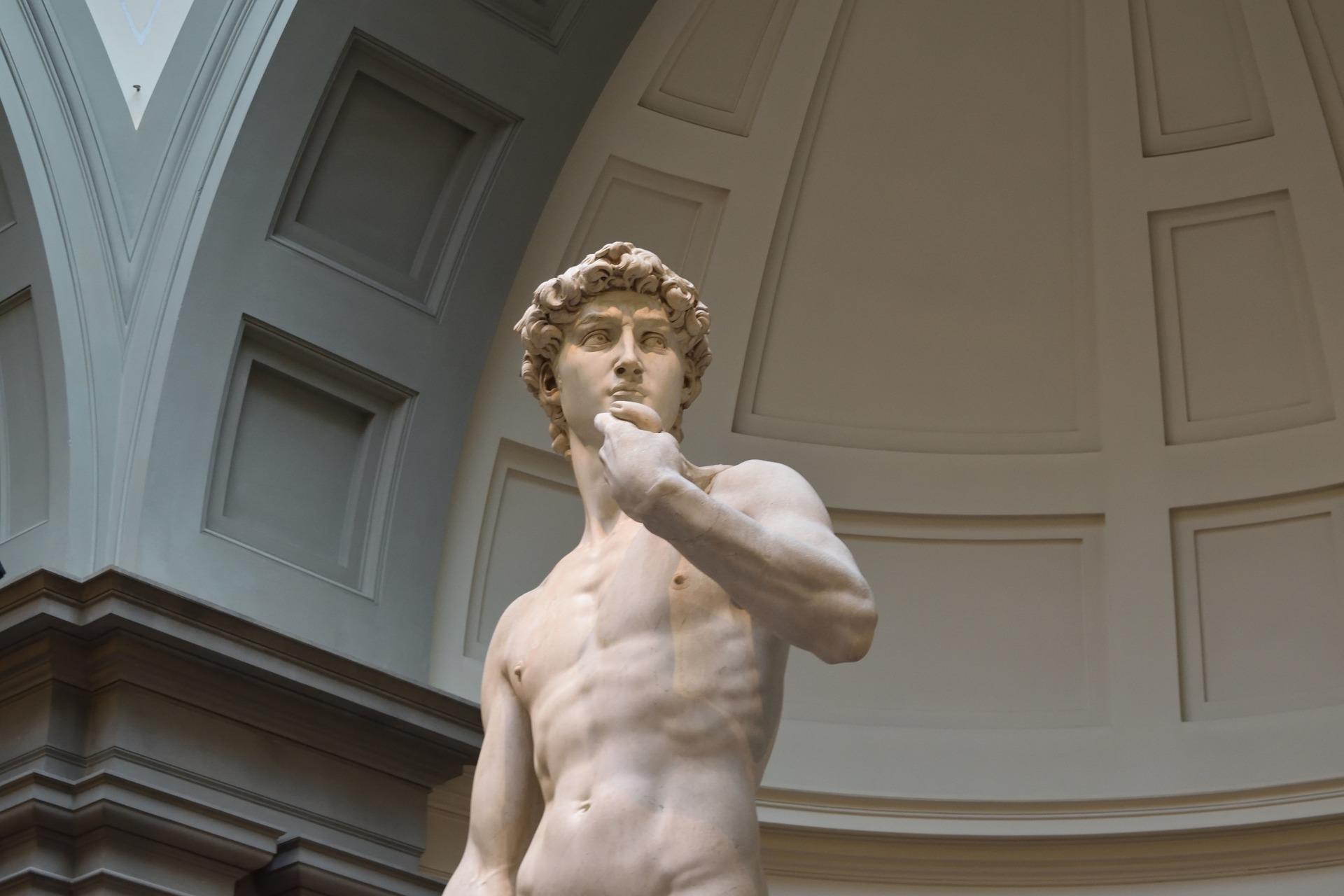 Italian art, sculpture of David