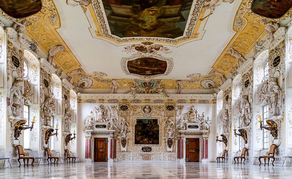 Hohenschwangau castle inside