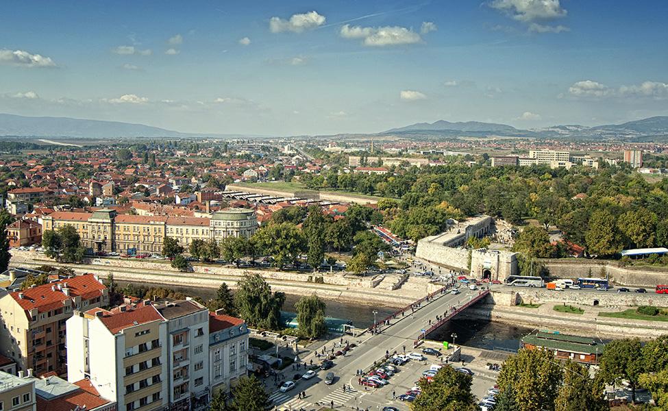 Panorama Niša i pogled na deo tvrđave