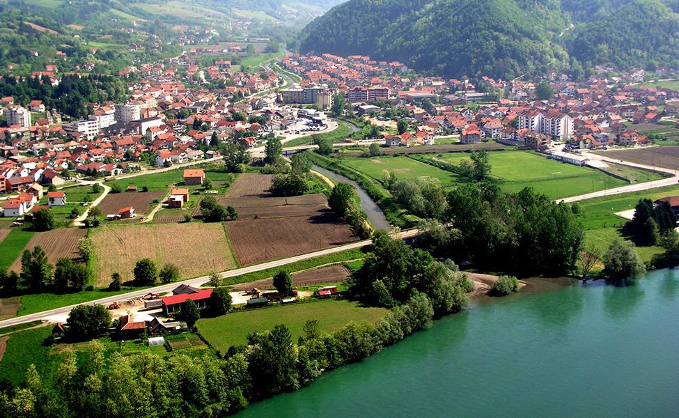 Ljubovija panorama grada