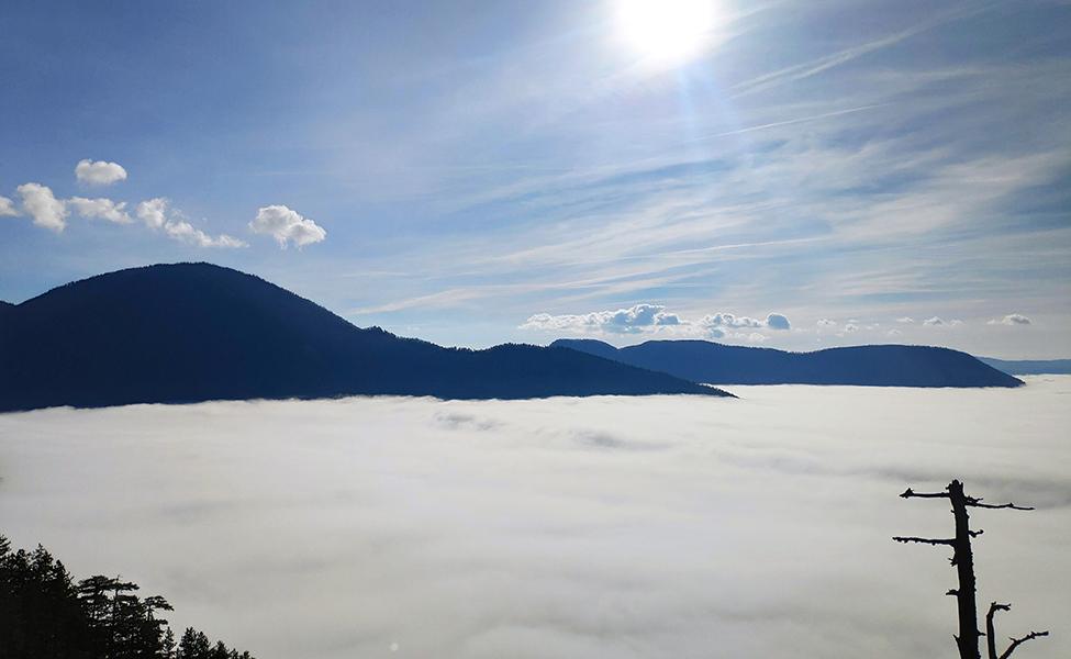Vidikovac Osluša, na planini Tari