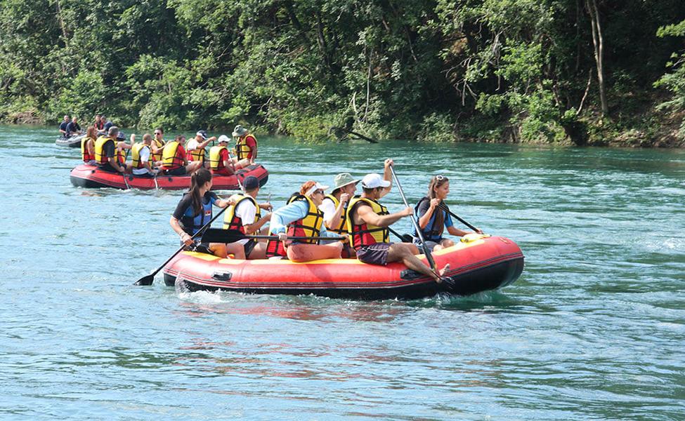 Splavarenje na reci, čuveni spust niz reku Drinu