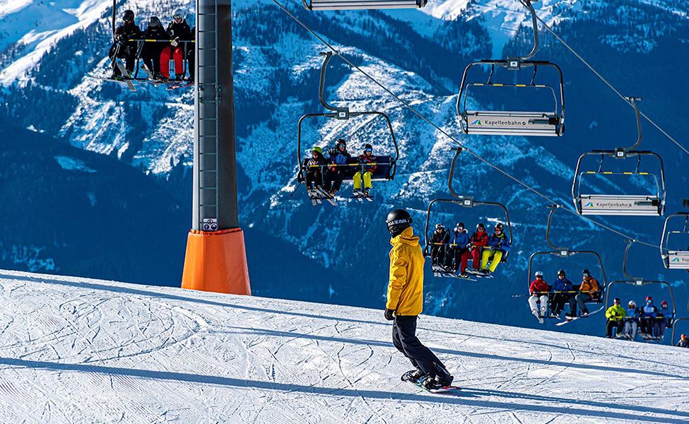 Skijanje na planini, ski staza na Kopaoniku