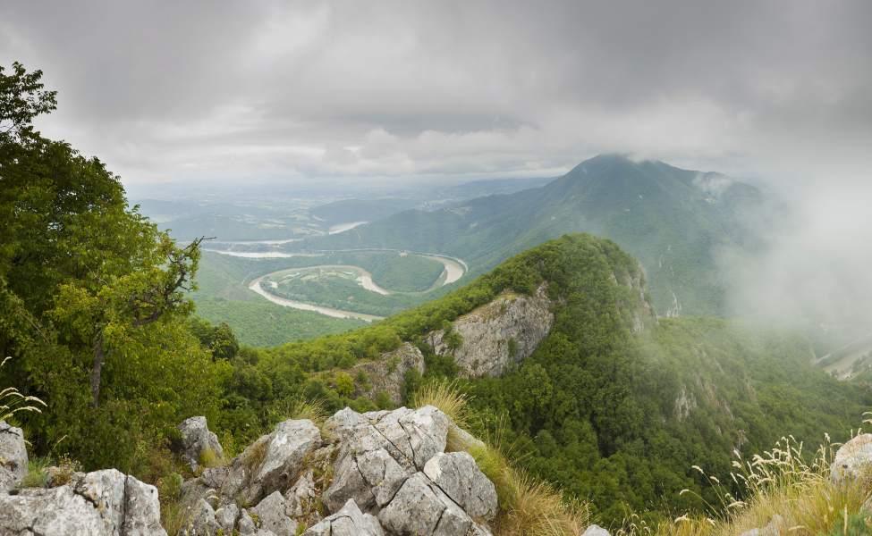 Pogled na Zapadn Moravu u magli