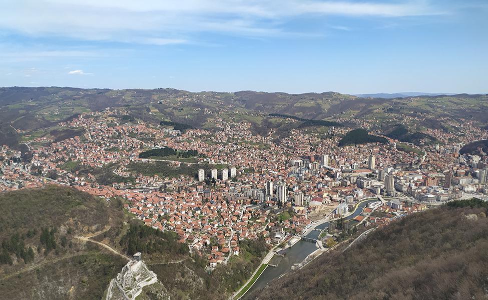 Pogled sa vidikovca na Stari grad