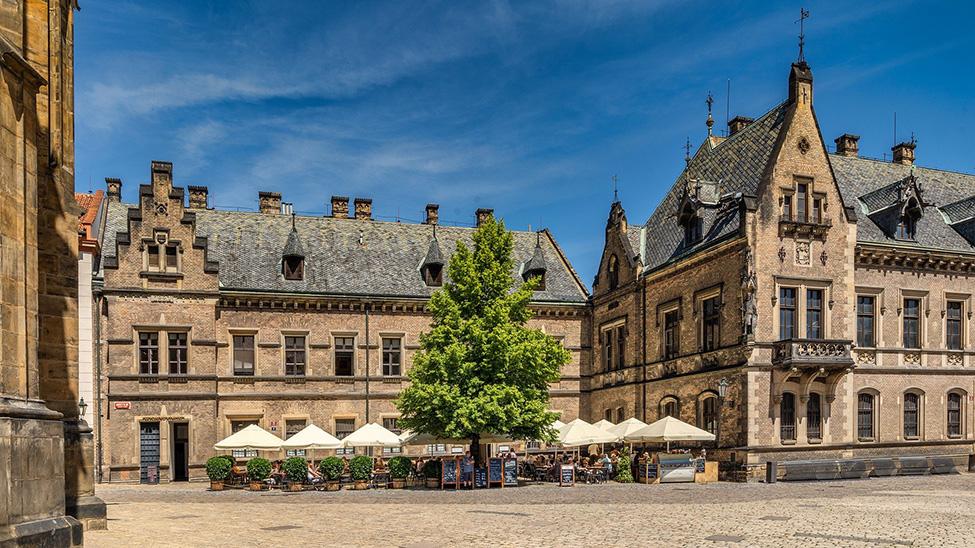 Medieval buildings in Prague