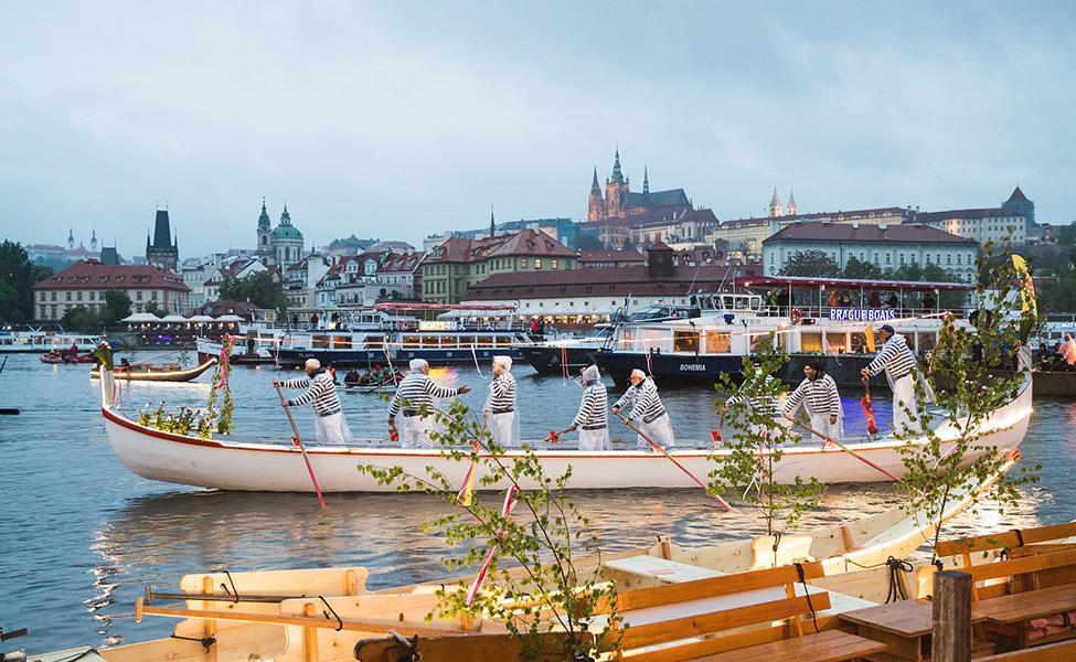 River in Prague Vltava