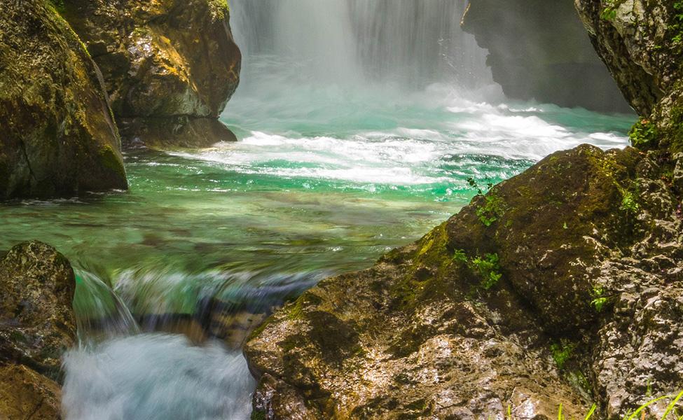 Waterfall in Slovenia