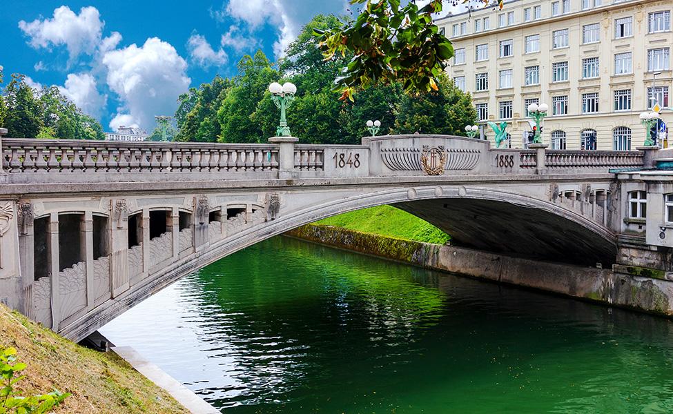bridge in Ljubljana
