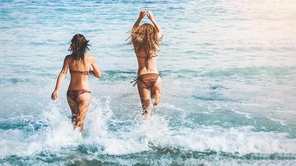 Girls having fun on the vacation