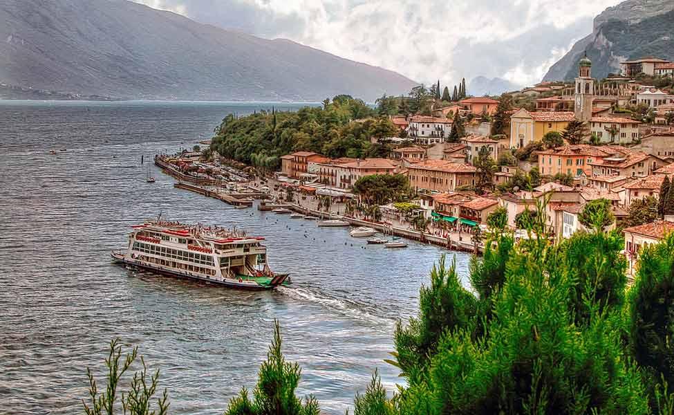 Lake Garda in Italy, panorama