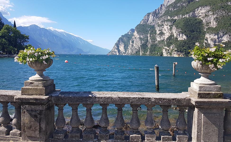 Balkon on the Italian lake Garda