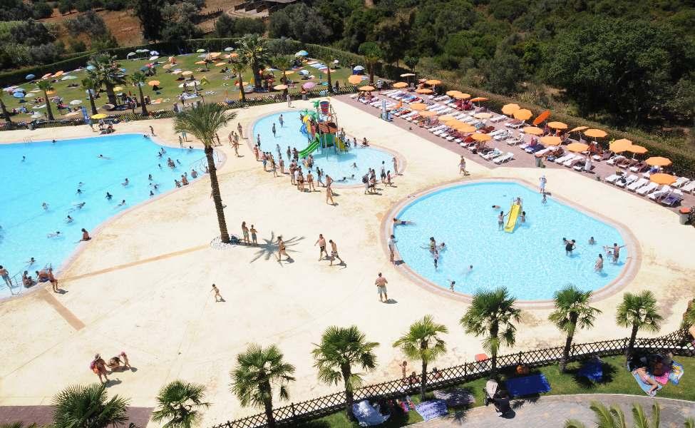 Crystalline kiddy pools in Zoomarine water park, Algarve