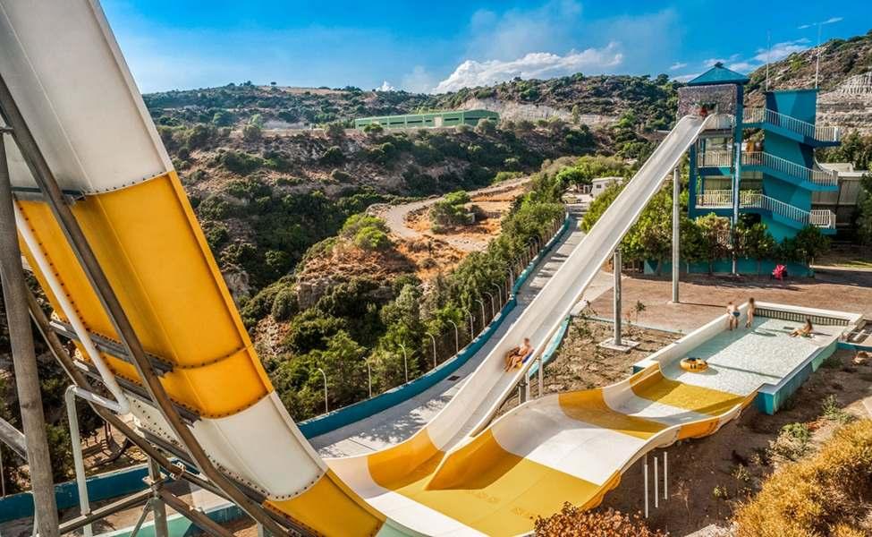 Boomerango slide in Faliraki water park