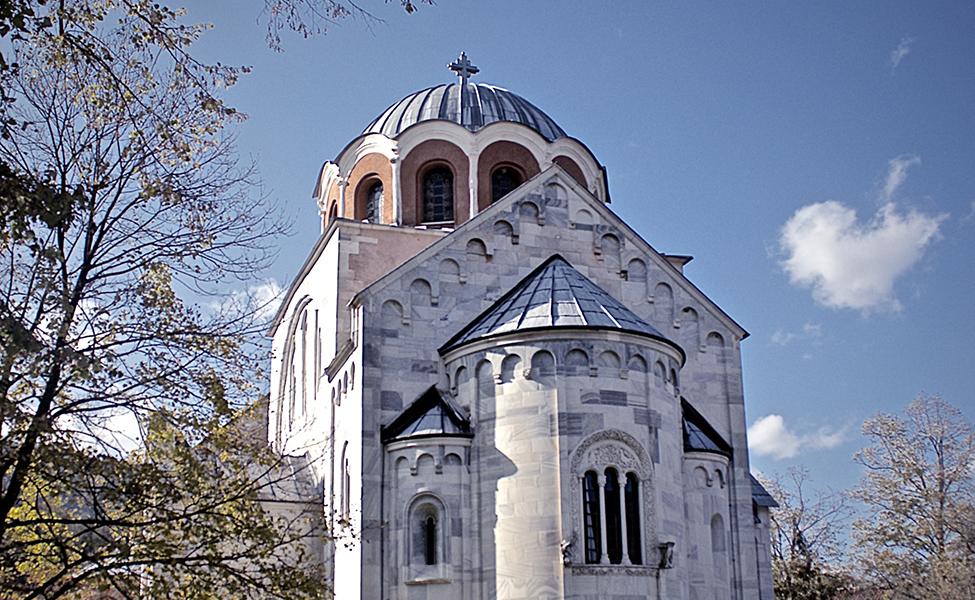 Manastir Studenica u oklini planine Golija