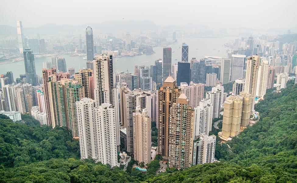 Hong Kong- city in China-panorama
