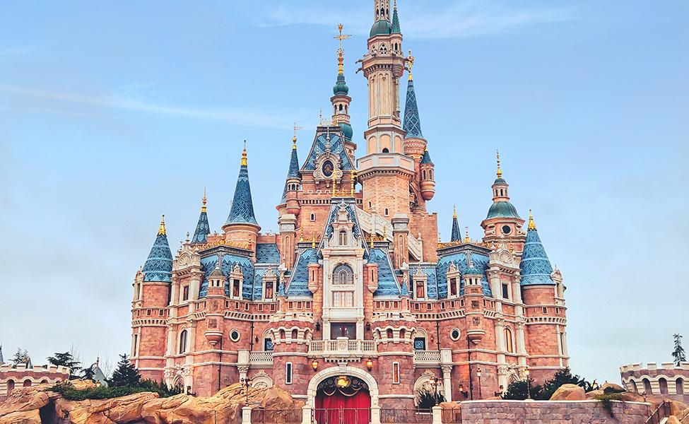 Disneyland in Shanghai  with a huge castle