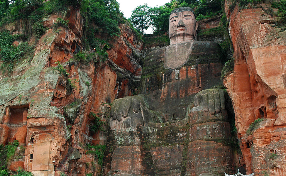 The monument of Leshan Giant Buddha