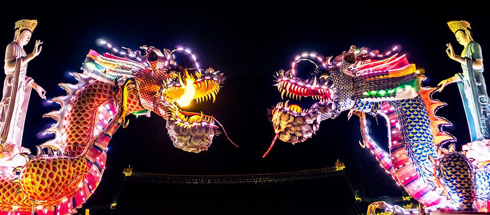 Dragon festival in China