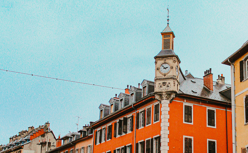 Chambéry city in the French Alps