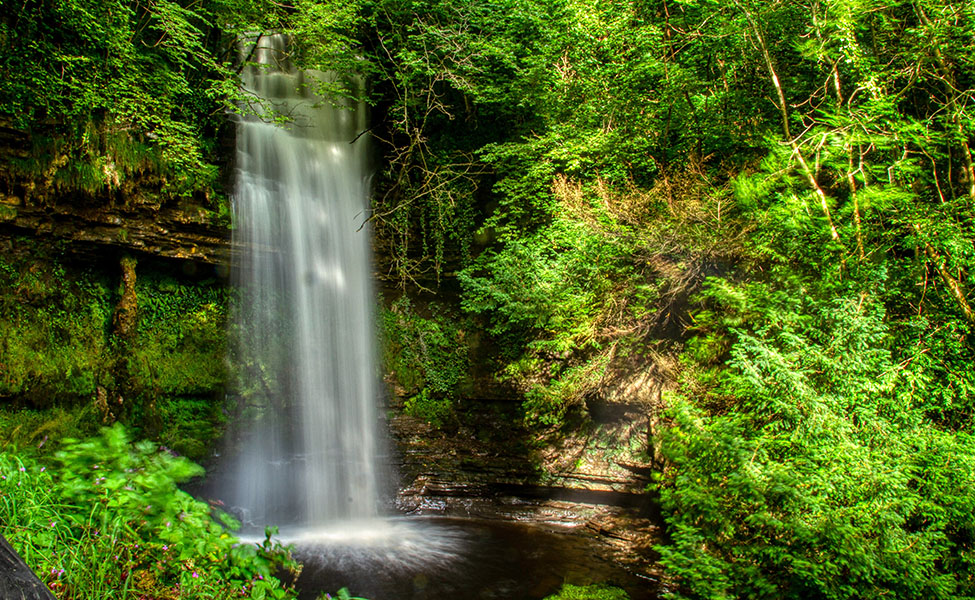 Glencar waterfall in nature