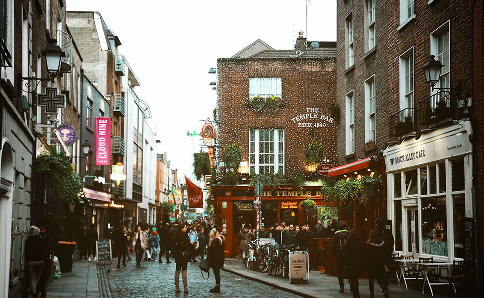 tourists explore the attractions of Dublin