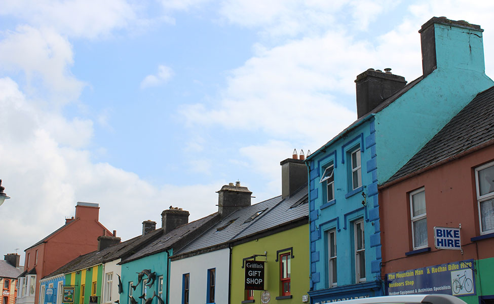 colorful and authentic cottages in Ireland
