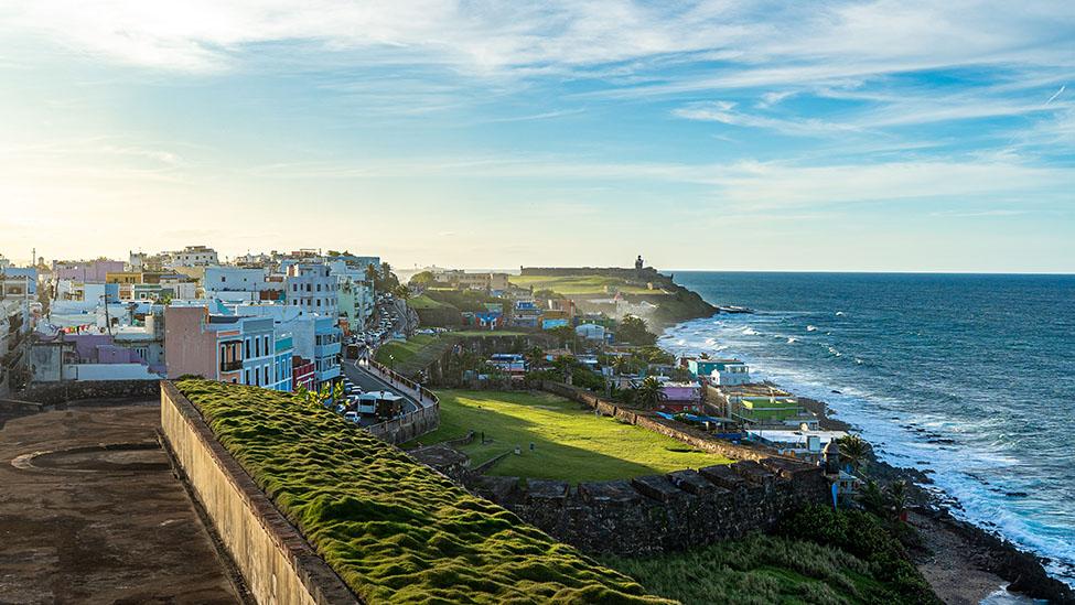 Puerto Rico, San Juan, look at the coastline