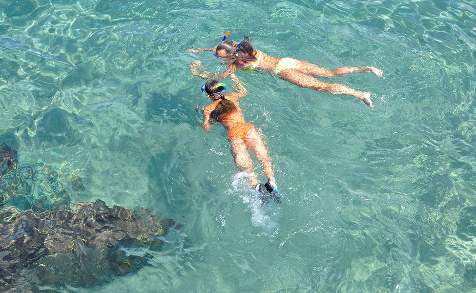 Kids enjoy snorkeling