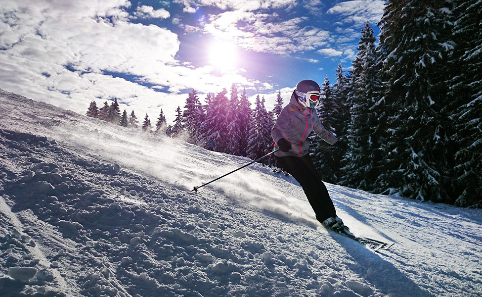 A man skiing on Alps
