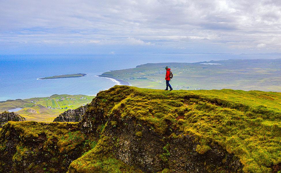 Scotland trekking routes, a guy goes trekking
