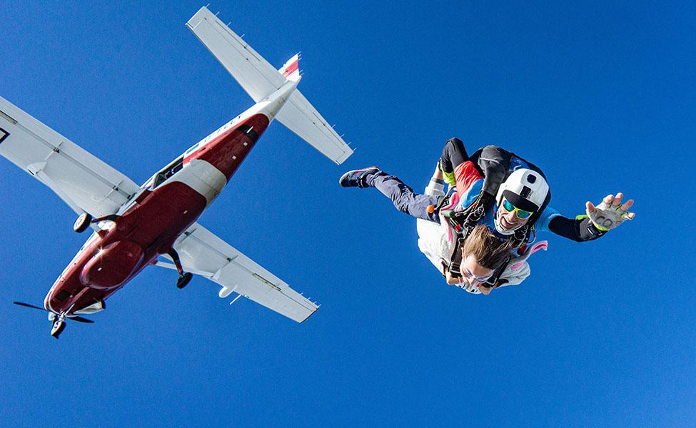Airplane skydiving