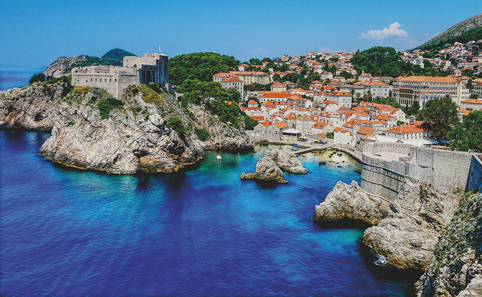 Dubrovnik town in Croatia